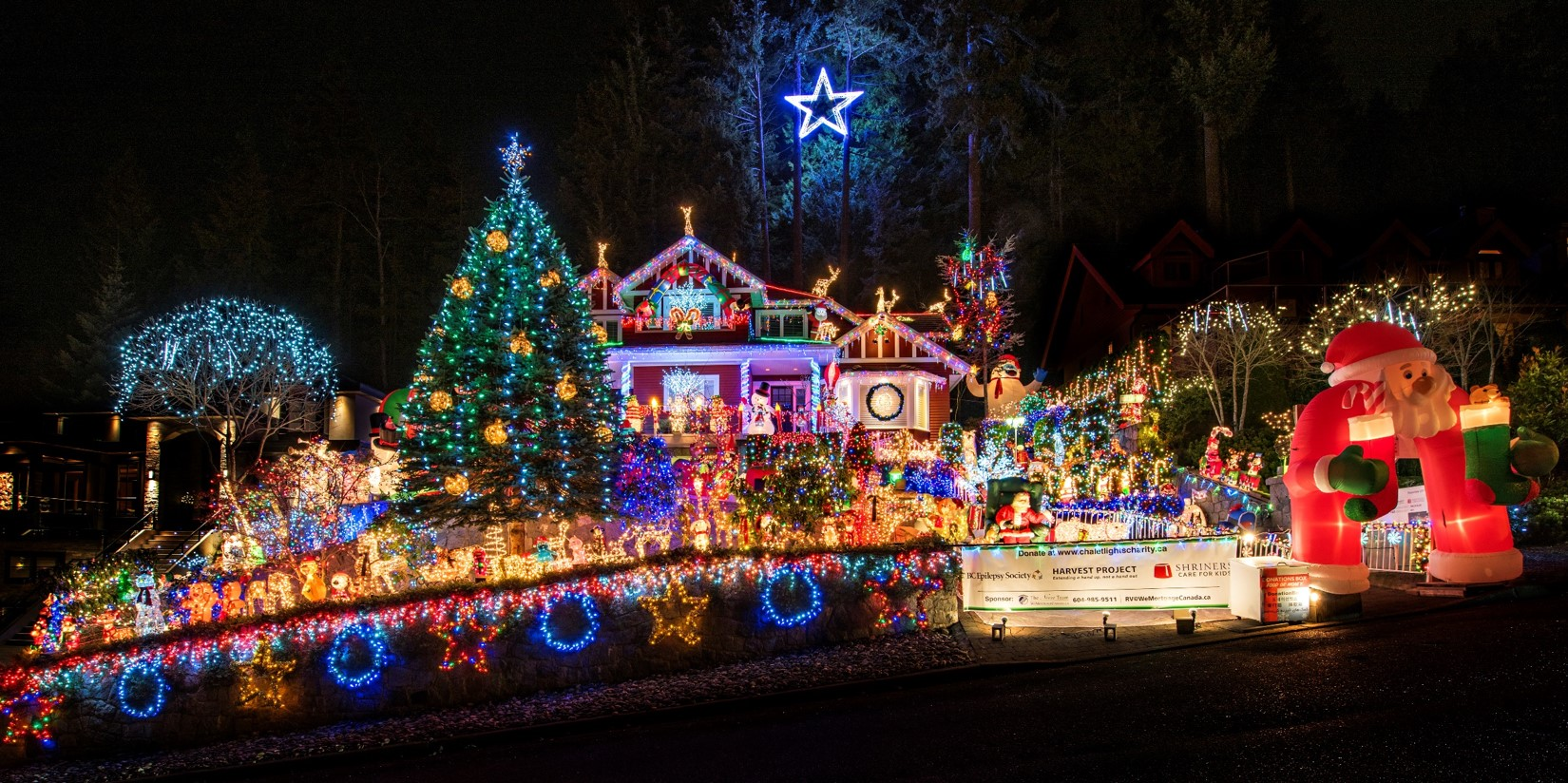Vancouver Christmas.2018 Home Chalet Lights Charity 2018